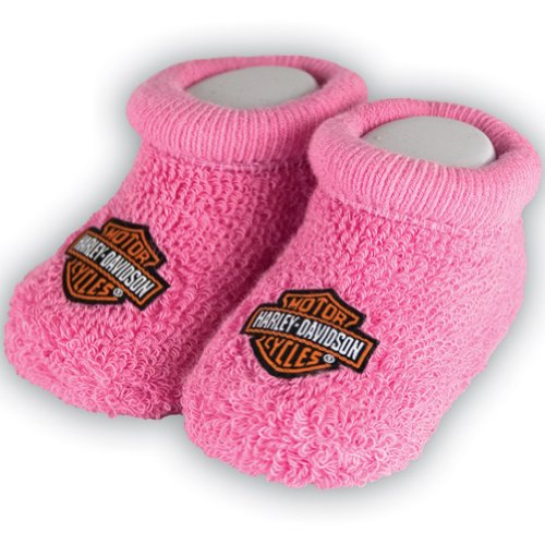 Harley-Davidson Girls Baby Booties Boxed Pink