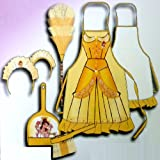 DISNEY PRINCESS BELLE CHILDRENS CLEANER FANCY DRESS COSTUME OUTFIT YELLOW 070050