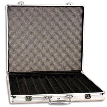 Find Bargain Aluminum 1,000 chip capacity poker chip case