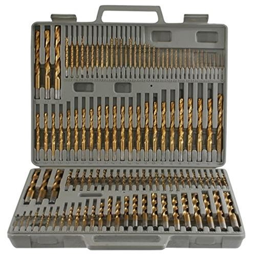 Power Tools 115pc Titanium Drill Bit Set w/ Index Case Number Letter Fractional $0 SHIPPING! (Morse Taper Drill Bit Set compare prices)