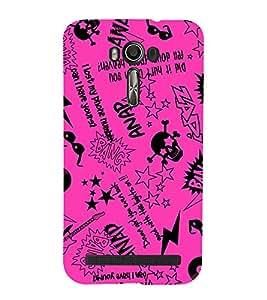 EPICCASE Abstract Art Pink Mobile Back Case Cover For Asus Zenfone 2 Laser ZE500KL (Designer Case)