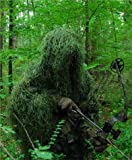 GhillieSuits Synthetic Ultra-Light Ghillie Bow Hunting Jacket Left Hand Leafy Green XL