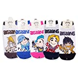 Big Bang Last Farewell Kpop Socks 5 Pairs Featuring Taeyang, G-Dragon, Top, Seungri & Daesung