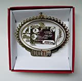 Colorado State Landmarks Christmas Ornament Denver Aspen Vail Pike's Peak