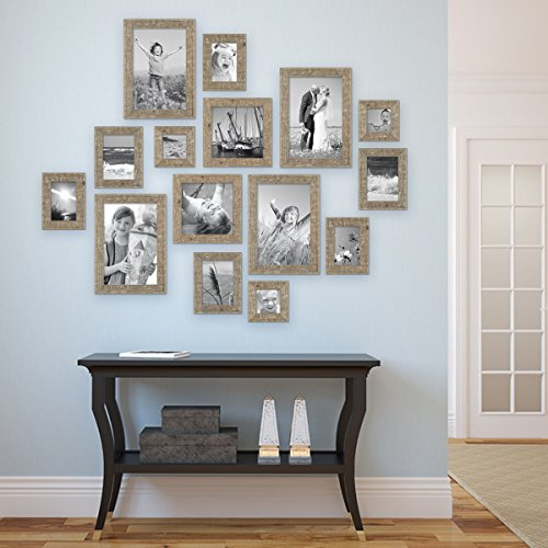 15er set bilderrahmen strandhaus rustikal eiche optik. Black Bedroom Furniture Sets. Home Design Ideas