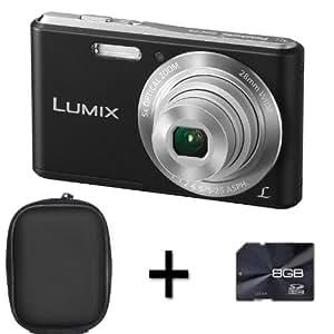 Panasonic Lumix DMC-F5 - Black + Case and 8GB Memory Card (14.1MP, 5x Optical Zoom, Super Slim Design, 28mm Wide Angle Lens, HD Video Recording) 2.7 inch LCD