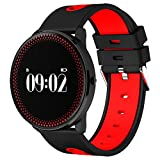 SODIAL(R) CF007 Smart Watch Blood Pressure Round Touch Screen Heart Rate Weather Forecast red (Color: red)