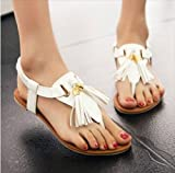 (フルールドリス)Fluer de lis タッセル トング ぺたんこ サンダル ウェッジソール 靴 シューズ 婦人靴 アパレル レディース ファッション 服 247-k1-7873
