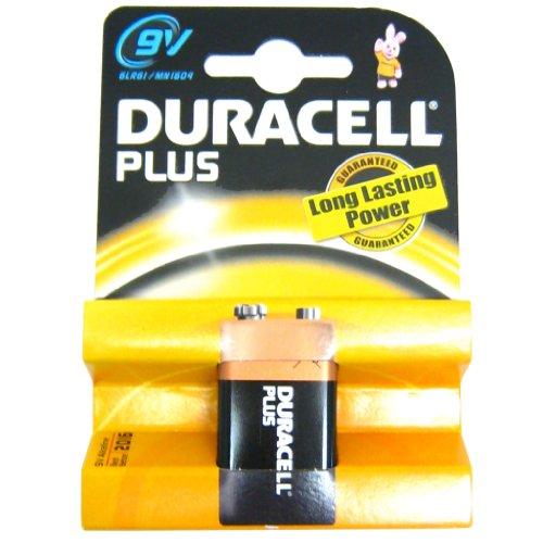 All Trade Direct Lot de 4 Piles Duracell Plus Mn1604 6Lr61 Pp3 9V Pile Batterie