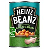 Heinz Beanz Tomato with Garlic and Herbs 390 g (Pack of 12)