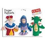 "Gund ""A Land Far Away"" Medieval Finger Puppets Set Of 3"