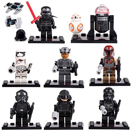 Star Wars Force Awakens Kylo Ren Boba Crew 8 Minifigures building brick lE GO