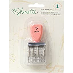 American Crafts Shimelle Roller Date Stamp, Day/Month/Year