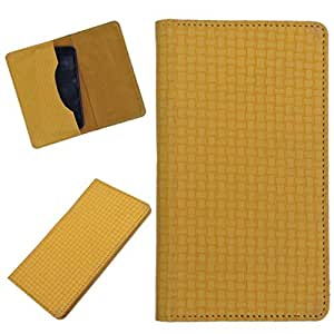 DCR Pu Leather case cover for Lava Xolo Q3000 (yellow)