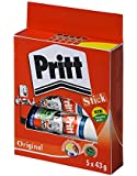 Pritt Stick Glue Solid Washable Non-toxic Large 43 g Ref 1456072 - Pack of 5