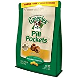 GREENIES PILL POCKETS Original Canine Treats - Chicken Flavor - Capsule Size - Value Size 15.8 oz. (448 g) - 60 Count