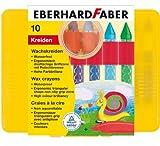 Eberhard Faber Waterproof Wax Crayon Plastic Box of 10
