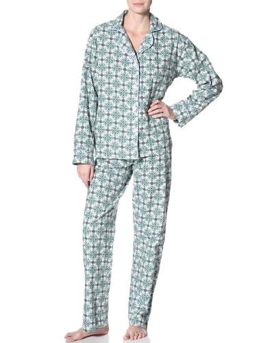 40 Winks Women's Tile Print Notch Collar PJ Set