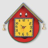 ExclusiveLane Warli Handpainted Wooden Face Clock-Wall Clocks Wall Décor Wall Hangings Gift items Home Décor