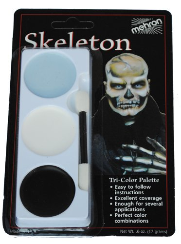 [Skeleton Tricolor Makeup Palette] (Skeleton Makeup)