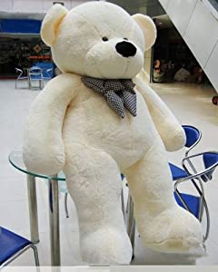 "Joyfay Giant Teddy Bear 78""(6.5 Feet) White by JOYFAY"
