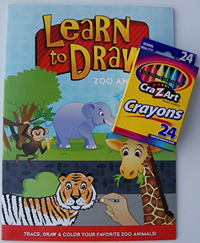 Learn to Draw Coloring Kit - Zoo Animals - 1