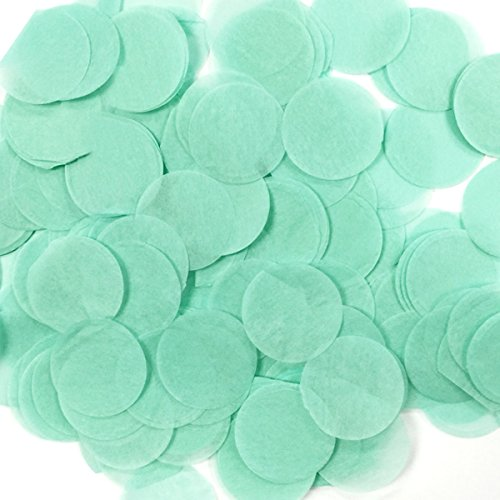 Wrapables 1 Inch Round Tissue Confetti Party Decorations for Weddings, Birthday Parties, and Showers, Tiffany Blue