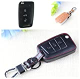 9 Moon Leather Car Key Cover For Volkswagen VW GOLF 7/ MK7 / skoda /Octavia A7 combi RS A 7 remote protector keyring