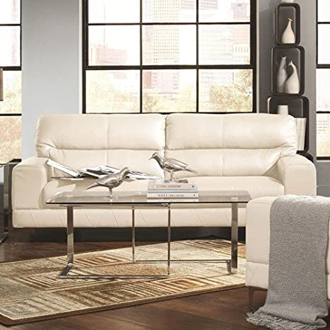 Coaster Home Furnishings Casual Sofa, White/White
