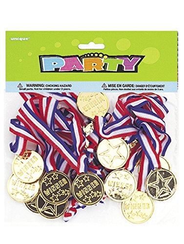 Gold Medal Party Game Prizes, 24ct (Birthday Games For Kids compare prices)