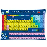 Periodic Table Of Elements Pillowcase Rectangle Pillow Case Cover One Side - Size 20x30 inch by Funny Pillow Case