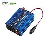 FonPeak 300Watt (Peak 600W) Pure Sine Wave Power Inverter DC 12V to AC 110V Charger Adapter Car Power Converter w/ Battery Clips & Cigar Lighter