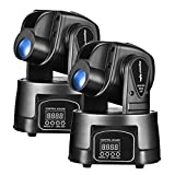 Eyourlife 15W LED Moving Head Light DMX 512 RGB Mini Moving Beams for DJ Party Nightclub Lives 2pcs