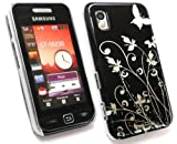 EMARTBUY SAMSUNG S5230 TOCCO LITE BLACK FLOWERS CLIP ON PROTECTION CASE/COVER/SKIN