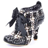 Irregular Choice Abigails Party Womens Laced Textile Heels