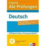 """Klett Original Abi-Pr�fungen Deutsch: mit weiteren regionalisierten Original-Pr�fungen f�rs Abitur auf CD-ROMvon """"Claus Gigl"""""""