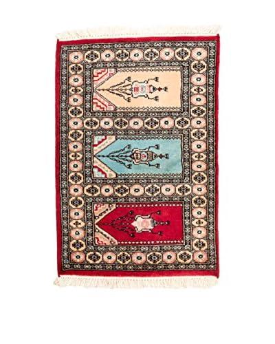 RugSense Alfombra Kashmir Rojo/Multicolor 92 x 61 cm