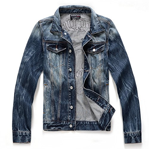 D Zroid Vintage Mens Denim Jackets Boys Jeans Tops 40 Blue