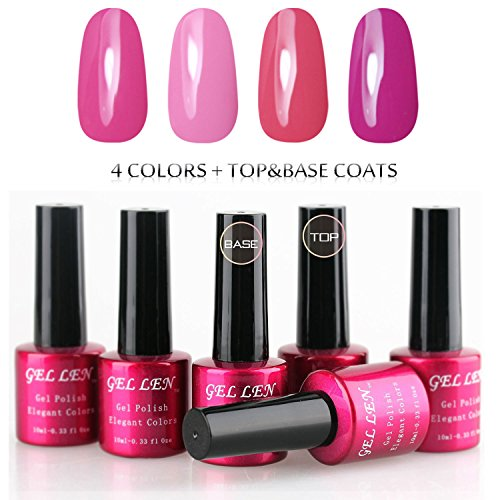 Gellen-Soak-Off-UV-LED-Gel-Nails-Polish-New-6-Colors-Series