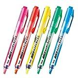 ぺんてる ハンディラインS ノック式蛍光ペン 5色セット SXNS15-5