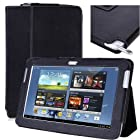 i-BLASON Samsung Galaxy Note 10.1 inch tablet Leather Case Cover with Stylus Holder for New 2012 16G 32G 3G 4G Wifi N8000 N8010 with Charger and IR Opening - 3 year Warranty ( (Black)
