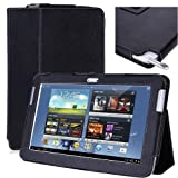 i-BLASON Samsung Galaxy Note 10.1 inch tablet Leather Case Cover for New 2012 16G 32G 3G 4G Wifi N8000 N8010  (Black)