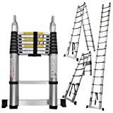 16.5ft Aluminum Extension Telescoping Ladder Heavy Duty Muliti Purpose Use A-type 330lbs