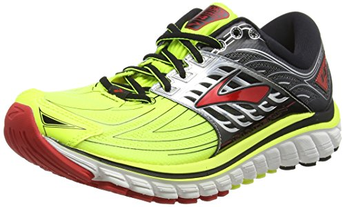 Brooks Glycerin 14, Scarpe da Corsa Uomo, Multicolore (Nightlife/Black/High Risk Red), 44