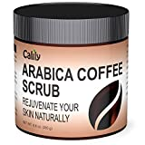 Calily Premium 100% Natural Arabica Coffee Scrub 8.8 Oz. - Achieve Smooth and Firm Skin - Deep Hydrating, Exfoliating and Cleansing - Helps Against Wrinkles, Cellulite, Stretch Marks, etc.
