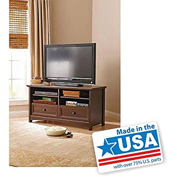 "Better Homes and Gardens Oakmore Place Flat-Panel TV Stand for Flat-Screen TVs up to 50"", Dark Oak"