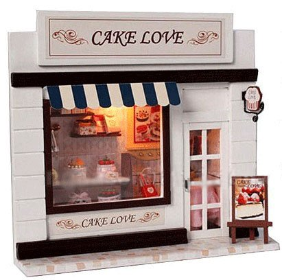 Big Dollhouse Miniature Diy Wood Frame Kit With Light Model Sweet Promise Gift Ldollhouse38-D60