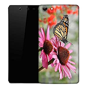 Snoogg Butterfly In Flower Designer Protective Phone Back Case Cover For Micromax Canvas Selfie Q348