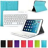 CoastaCloud Ultrathin Keyboard Cover Protection avec clavier AZERTY pour ipad mini 2,iPad Mini 1, couleur à chox : Bleu et Blanc