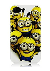 Wow Stylish Minions Protective Hard Case For Apple Iphone 4 / 4s